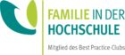 Logo des Best Practice Clubs Familie in der Hochschule mit dem Titel Familie in der Hochschule
