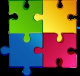 vier Puzzleteile
